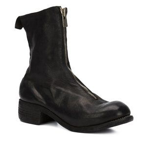 GUIDI  PL2 FRONT ZIP ANKLE BOOTS
